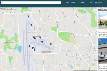 Aviation Property Network's interactive airport real estate map